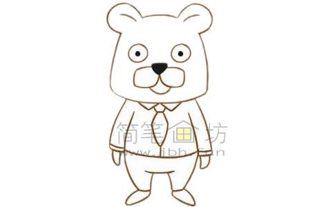 卡通豹子简笔画画法【彩色】(3)