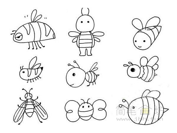 卡通蜜蜂简笔画(1)