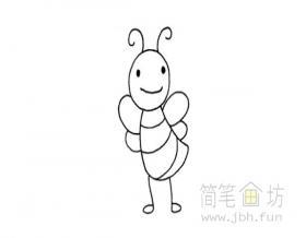 卡通蜜蜂简笔画简单的画法