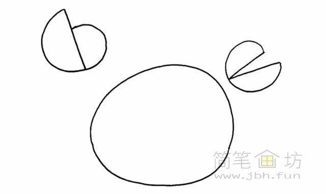 卡通螃蟹简笔画步骤图解教程(2)
