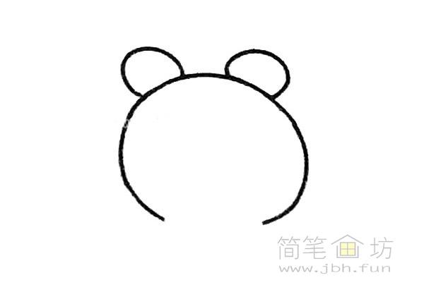 卡通青蛙简笔画步骤(2)