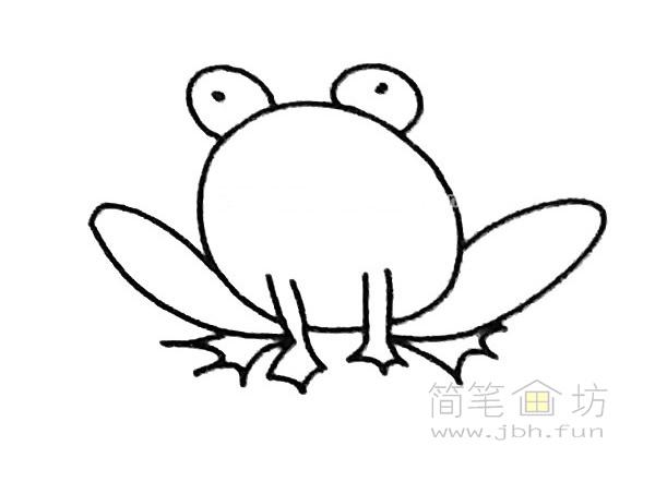 卡通青蛙简笔画步骤(4)
