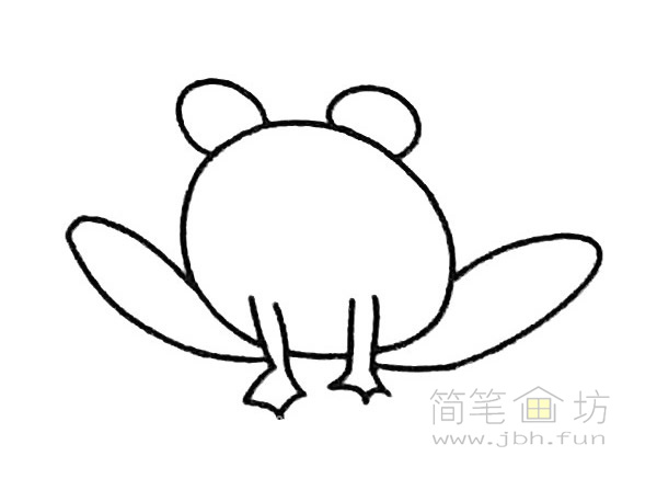 卡通青蛙简笔画步骤(3)