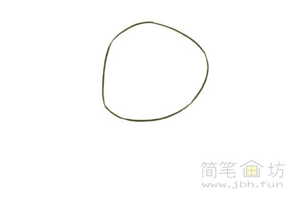 卡通青蛙简笔画步骤图片教程【彩色】(1)