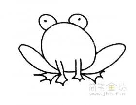 卡通青蛙简笔画步骤