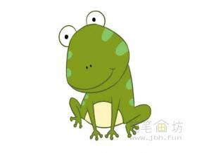 卡通青蛙简笔画步骤图片教程【彩色】