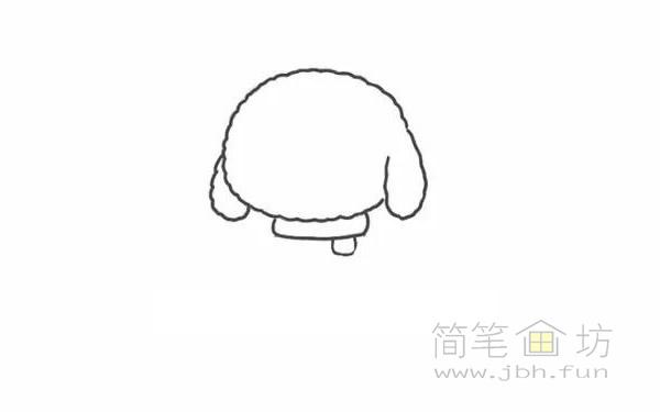 卡通贵宾犬简笔画步骤图解教程【彩色】(2)