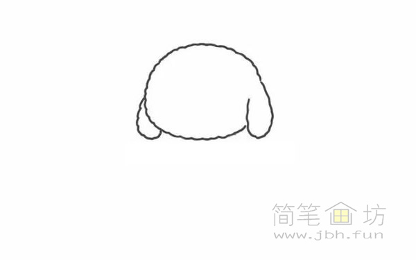 卡通贵宾犬简笔画步骤图解教程【彩色】(1)