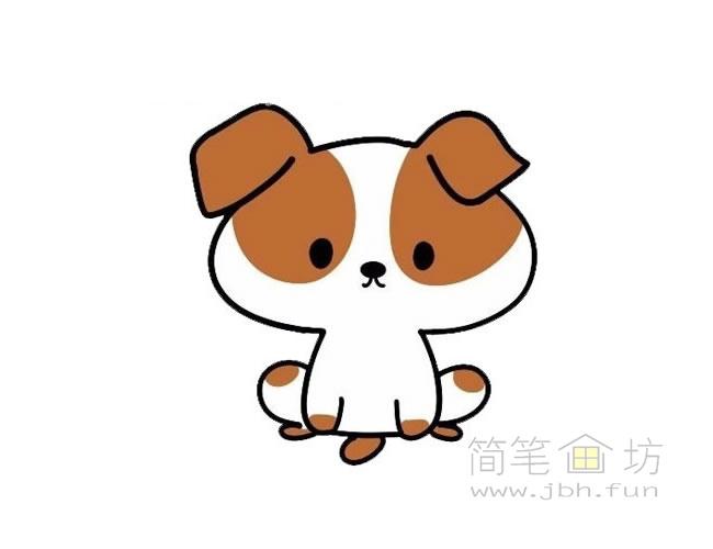 卡通小狗简笔画图片大全【彩色】(6)