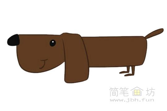 卡通小狗简笔画图片大全【彩色】(5)
