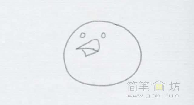卡通小鸡简笔画的画法【彩色】(2)