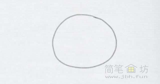 卡通小鸡简笔画的画法【彩色】(1)