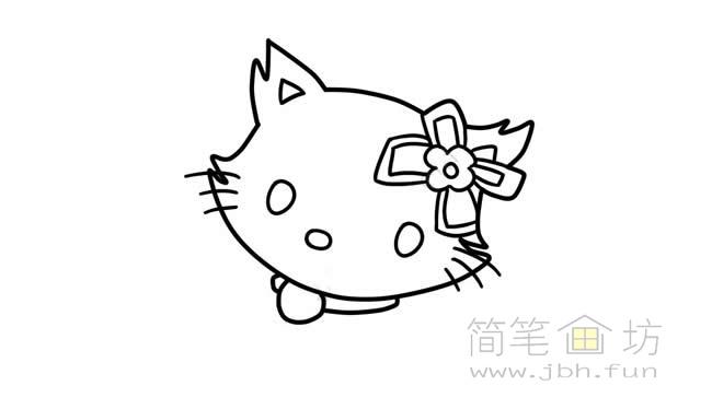 可爱的猫咪简笔画步骤图解教程【彩色】(3)