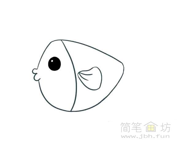 卡通小海鱼简笔画画法图解【彩色】(2)