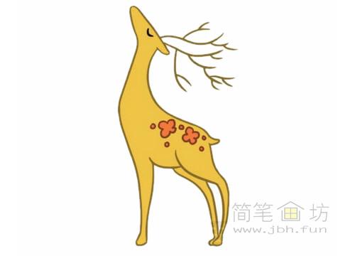 卡通小鹿简笔画图片大全(1)