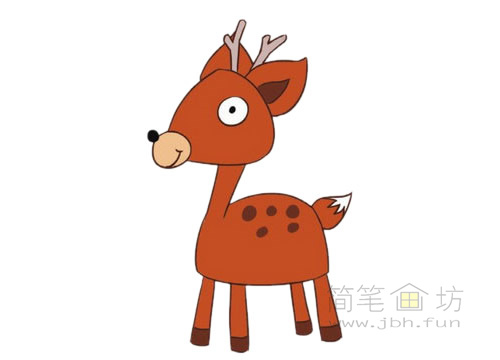 卡通小鹿简笔画图片大全(4)