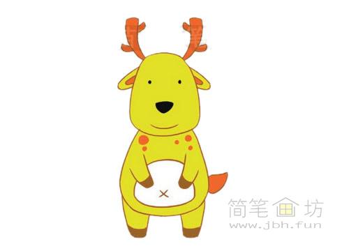 卡通小鹿简笔画图片大全(3)