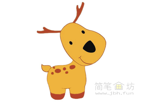 卡通小鹿简笔画图片大全(5)