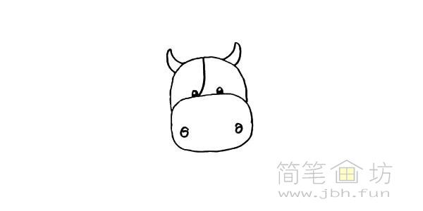 卡通小奶牛简笔画步骤图解教程【彩色】(6)