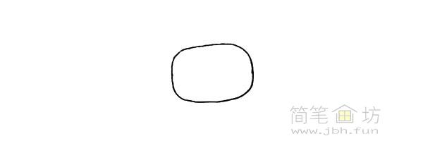 卡通小奶牛简笔画步骤图解教程【彩色】(1)
