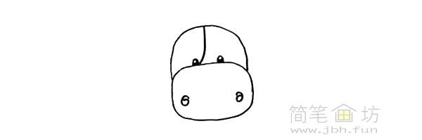 卡通小奶牛简笔画步骤图解教程【彩色】(5)