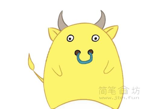 卡通小牛简笔画图片大全(2)