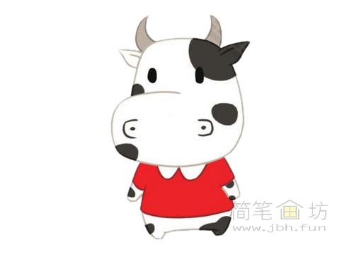 卡通小牛简笔画图片大全(4)