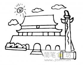 天安门广场简笔画图片