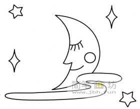 简笔画月亮图片