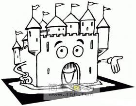 卡通城堡简笔画