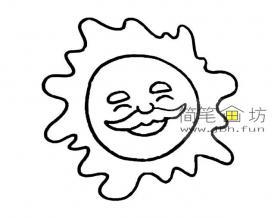 儿童简笔画太阳的素材