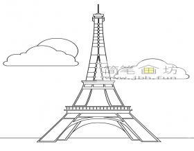 5幅关于埃菲尔铁塔的简笔画图片