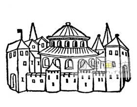 2幅城堡简笔画