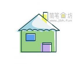 宝宝学画画:简单的小房子简笔画教程