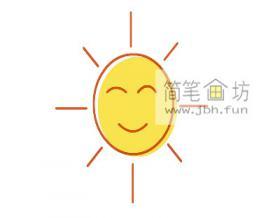 宝宝学画画:太阳的彩色简笔画画法教程