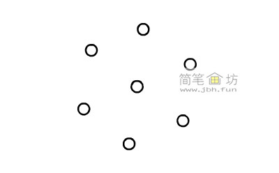 一步一步教你怎么画雪花简笔画【彩色】(2)