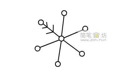 一步一步教你怎么画雪花简笔画【彩色】(4)