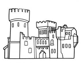 国王的城堡简笔画图片