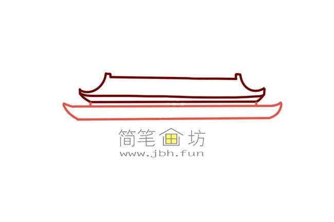 彩色天安门儿童简笔画教程(3)