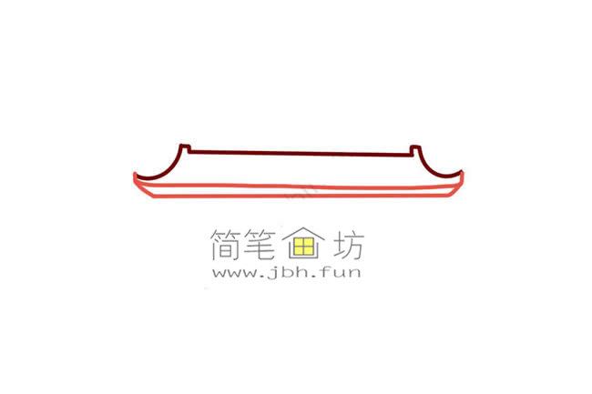 彩色天安门儿童简笔画教程(2)
