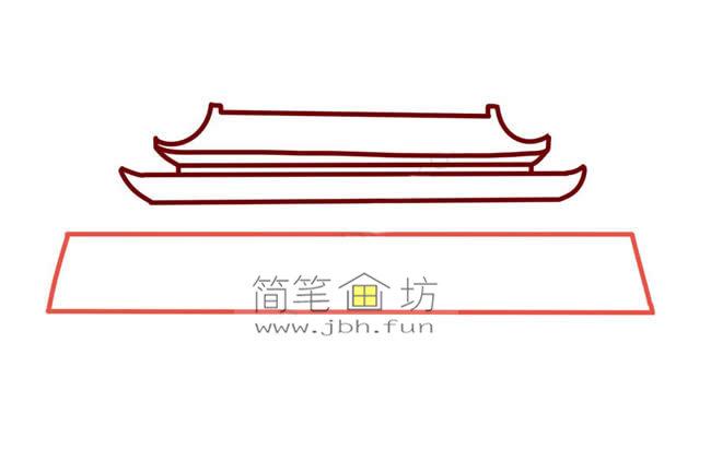 彩色天安门儿童简笔画教程(4)