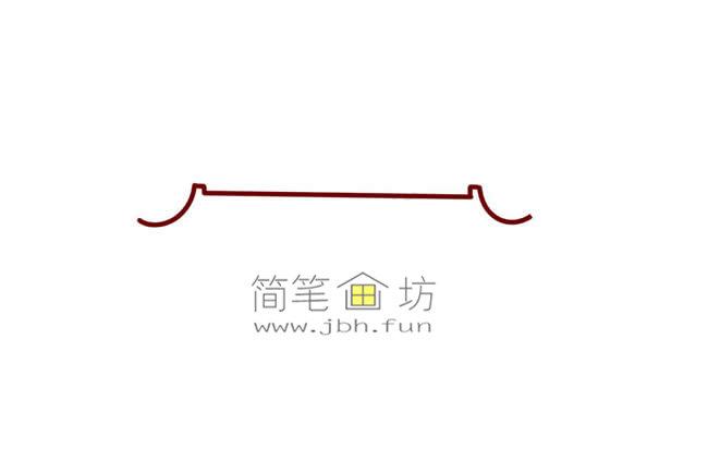 彩色天安门儿童简笔画教程(1)
