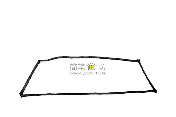 一步步教你画彩色天安门简笔画(1)