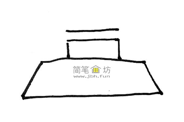 一步步教你画彩色天安门简笔画(2)