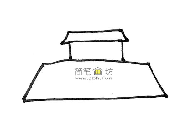 一步步教你画彩色天安门简笔画(3)