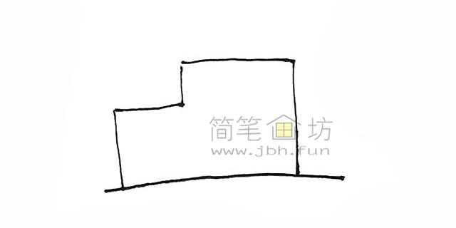 冒着烟的工厂简笔画画法【彩色】(1)