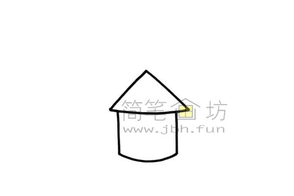 美丽的公主的爱心城堡简笔画画法【彩色】(1)