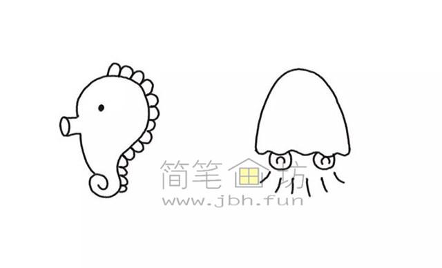 美丽的海底世界儿童简笔画怎么画(2)
