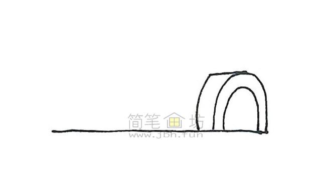 儿童简笔画:冰屋简笔画画法步骤【彩色】(2)