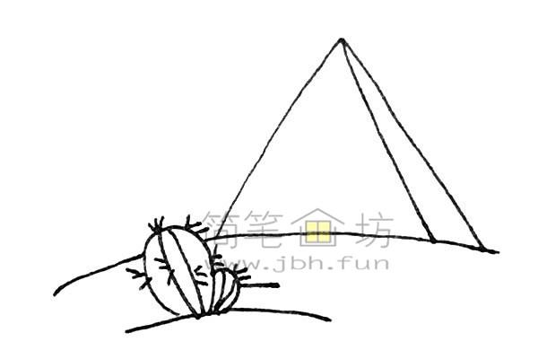 雄伟的金字塔简笔画绘画步骤【彩色】(4)